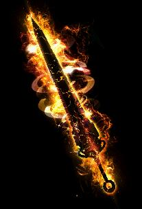 火光环绕简单指尖武器