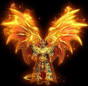 火焰之翅向天战甲传奇衣服素材