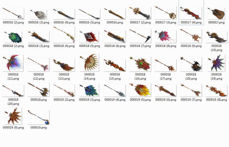 几十款传奇5高清武器素材下载