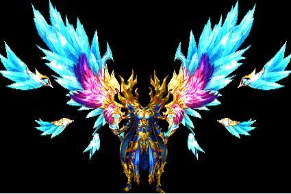 蓝冰羽翅传奇衣服素材下载