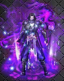 紫色蝙王之魂战袍传奇衣服素材下载