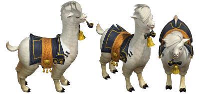 白色的草泥马 羊驼传奇坐骑素材