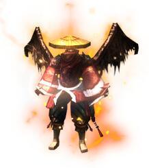 黑翅膀的雷震子战袍传奇衣服素材