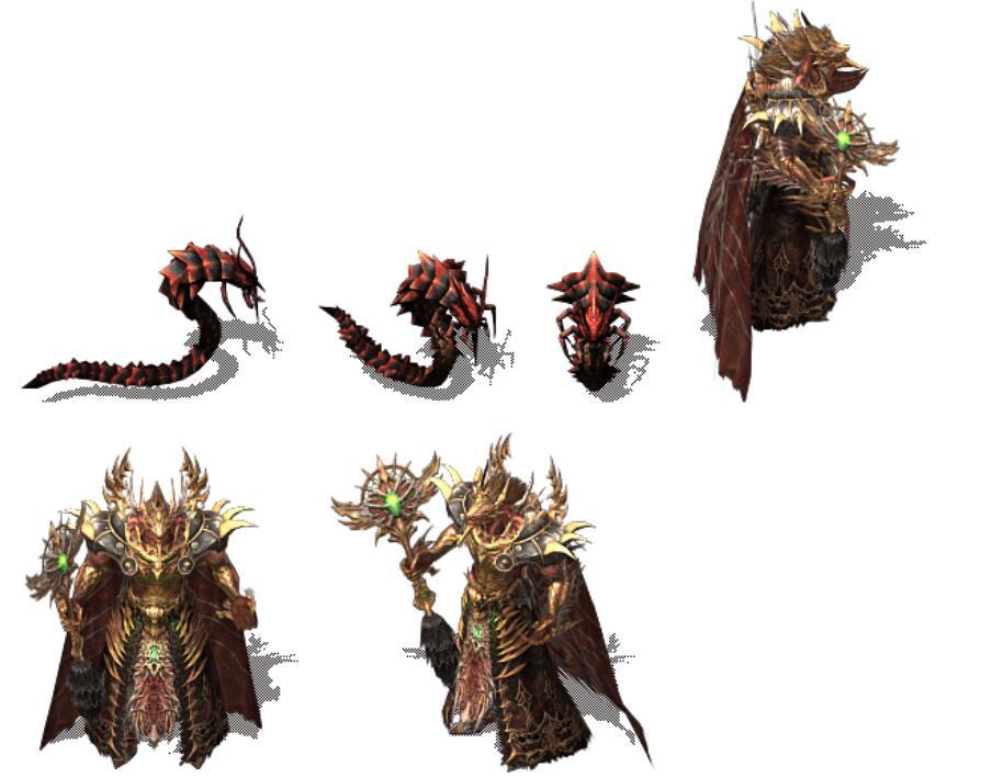 红色蜥蜴,鼠地王等全新传奇怪物素材