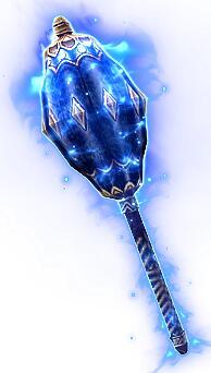 白发老将衣服+蓝色之锤特效武器