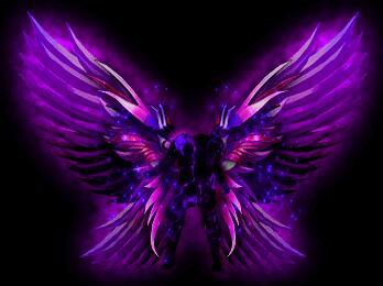 暗黑系列紫色翅膀特效素材下载