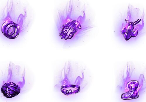 紫色龙腾之吟全套首饰素材下载