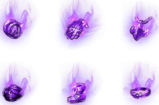 紫色幻梦传奇首饰素材下载