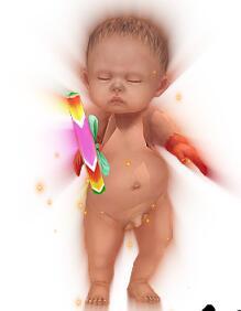 扭扭屁股的胖婴儿传奇一体时装素材