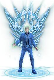 蓝色翅膀西装男衣服+蓝火之剑武器素材