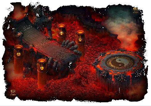 八卦火焰洞传奇地图素材