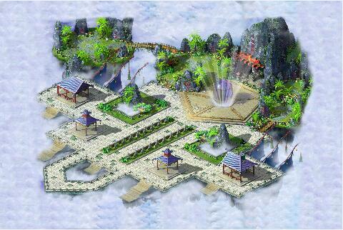 七彩仙凰岛传奇地图素材