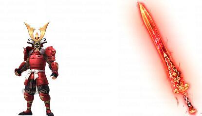 红色的武士套装素材