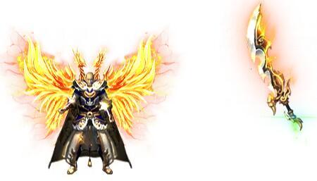 黄色翅膀斗神衣服+斗神刀素材